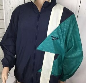 037aac2ae12f6 Vintage Reebok Jacket Windbreaker Hooded Retro 90s Track Coat Color ...