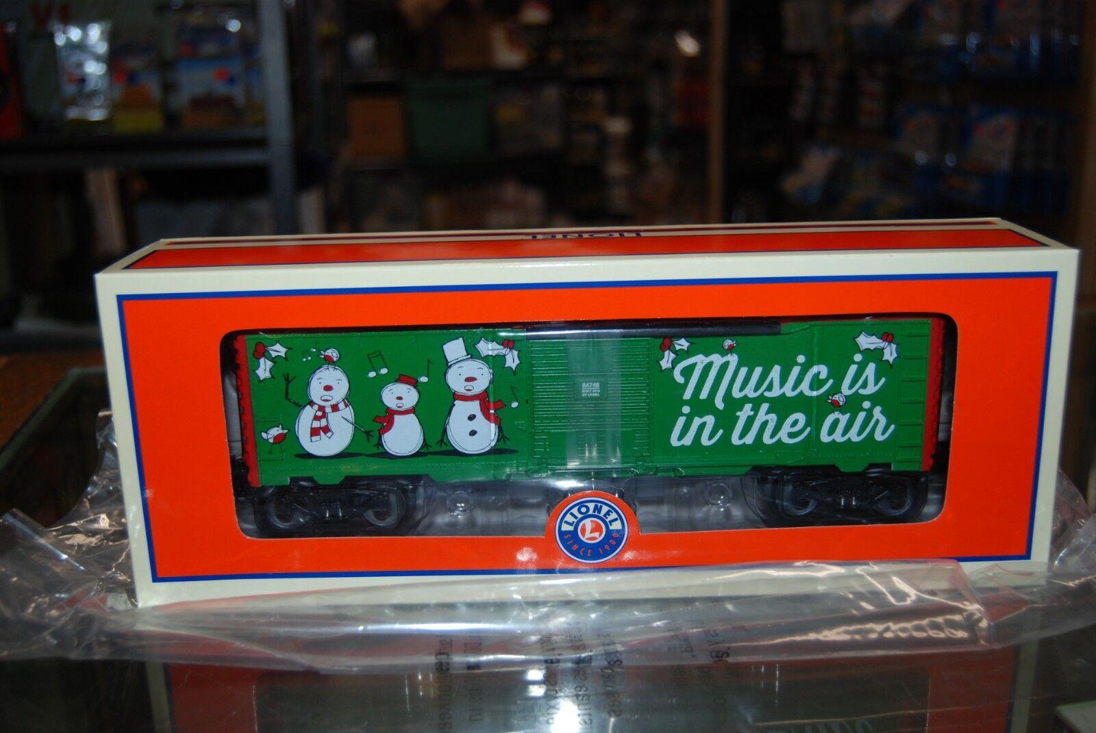 O Lionel 2018 Christmas Car Car Car 6-84748  Christmas Music Box Car  NIB ce3477
