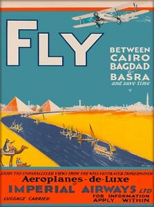 Image Is Loading Cairo Bagdad Basra Iraq Egypt Vintage Airlines Travel