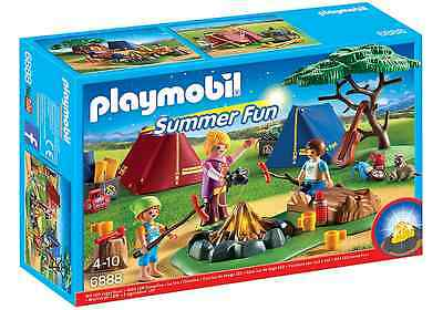 Playmobil Summer Fun 6888 Zeltlager mit LED-Lagerfeuer ...