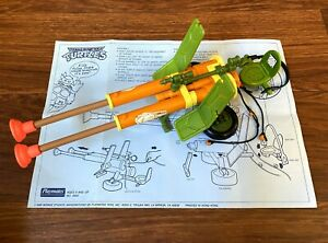 Double-Barreled-Plunger-Gun-Vintage-TMNT-Ninja-Turtles-80s-Complete-Instructions
