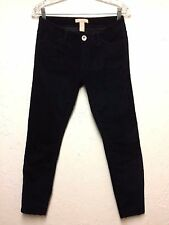 Banana Republic Women's Corduroy Pants Skinny Navy Dark Blue Sz: 26X29,,Cute!