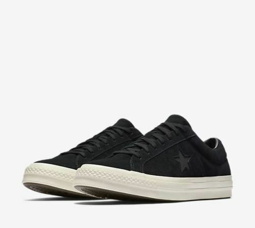CONVERSE ONE STAR OX CT ALL STAR SUEDE LOW MEN SHOES BLACK 158477C SIZE 9.5 NEW