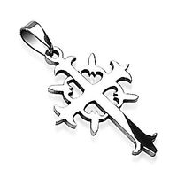 Stainless Steel Tribal Cross Pendant