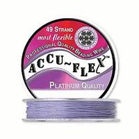 30' Accuflex Lavender 49 Strand .024in Accu-flex Purple Beading Wire