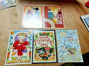 VTG-Lot-of-5-Mary-Engelbreit-2-Friendsh-amp-3-Mother-039-s-Day-Greeting-Cards-5x7-034