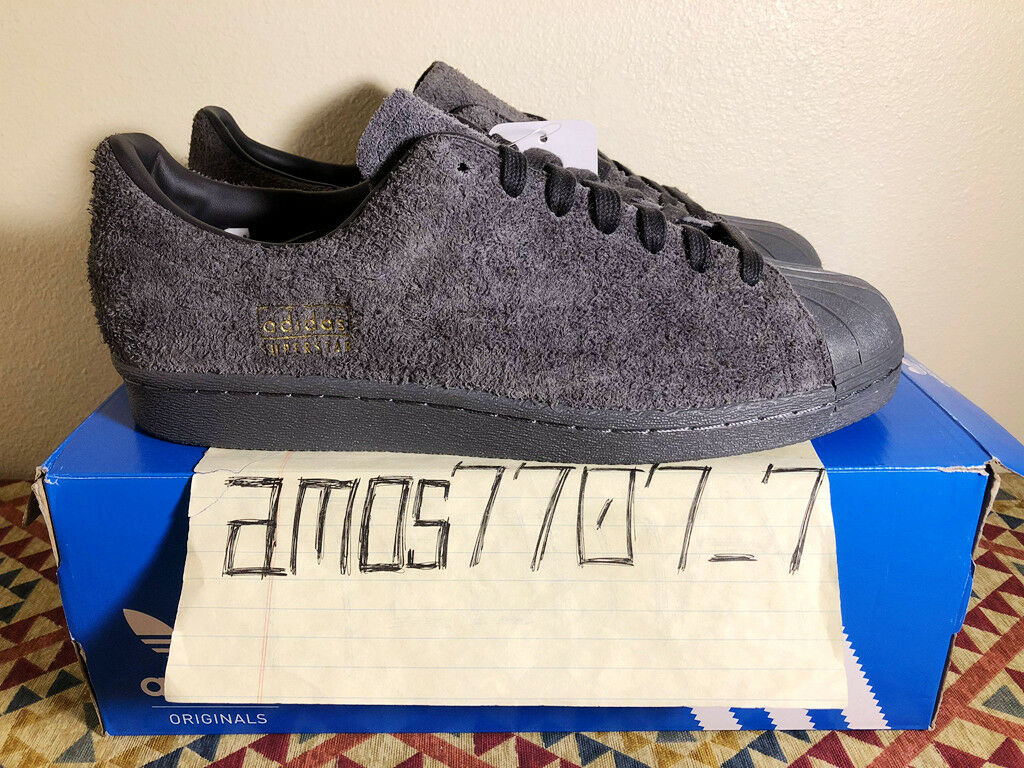 Adidas Originals Superstar 80s Clean Grey Suede BZ0566 Men's Size SZ 8 9