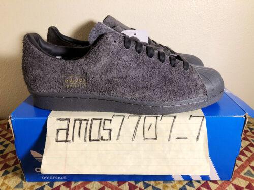 Clean in pelle Sz uomo Bz0566 Superstar 9 Adidas Originals grigia 8 misura scamosciata 80s wHq6pA1xtT