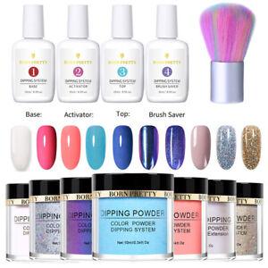 12PCS-BORN-PRETTY-Dipping-Powder-Nail-Dip-Liquid-Brush-Set-Nail-Starter-Kit-DIY