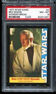 1977 Topps Star Wars Wonder Bread Trading Card #2 BEN KENOBI PSA 8 NM-MT