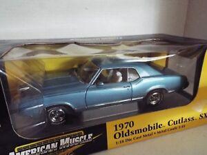 18 Oldsmobile Cutlass Bleu 1 1970 Ertl Sx Coupé Métal avagqZw