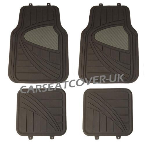 Black//Grey HEAVY DUTY Front Rear RUBBER CAR Floor MATS Mitsubishi i Car