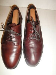 DEXTER BROWN LEATHER OXFORD WOMENS SHOE
