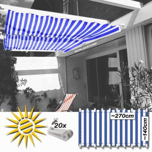 Farben Sonnensegel Beschattung Sonnenschutz 4,2 x 1,4 m Seilspanntechnik div