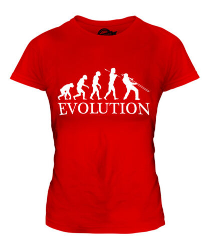 JAZZ TROMBONE PLAYER EVOLUTION OF MAN LADIES T-SHIRT TEE TOP GIFT