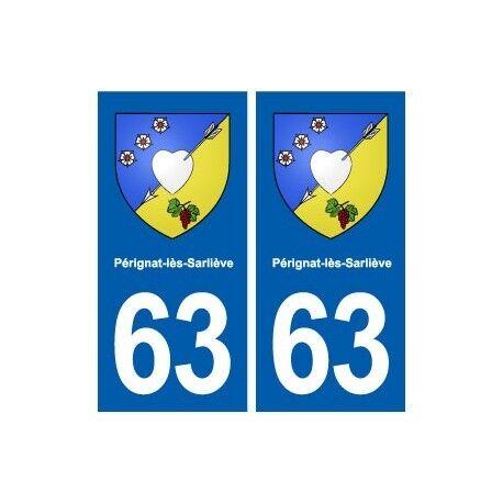 63 Pérignat-lès-Sarliève blason autocollant plaque stickers ville arrondis