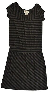 Stussy DECO ROLL UP Black Heather Dark Grey Print Above The Knee Junior/'s Dress