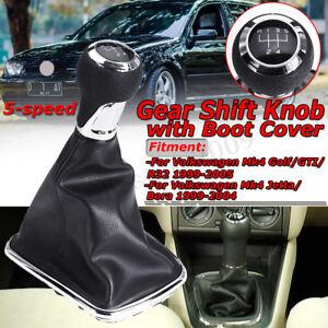 5-Speed-Gear-Shift-Knob-Shifter-Gaiter-Boot-for-VW-Mk4-Golf-Jetta-Bora