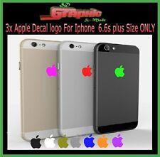 3x iphone 6plus / 6plus s / 7 Plus Apple Logo Skin Sticker Decal Film ONLY
