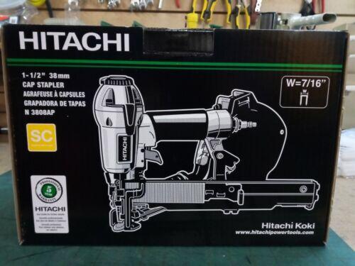 "Hitachi N3808AP 1-1//2/"" Cap Stapler W=7//16/"" 38mm 5 Year Warranty"
