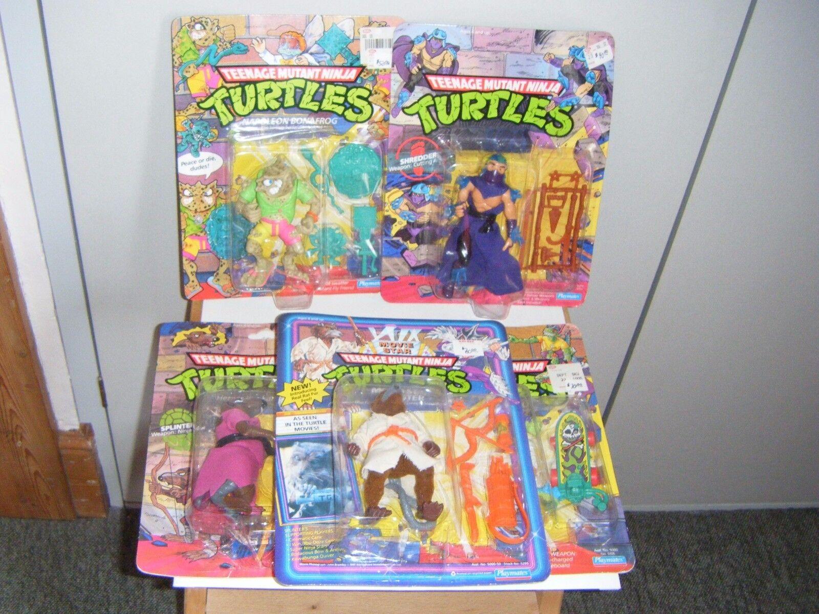 Teenage Mutant Ninja Turtles vintage Playmates action figures