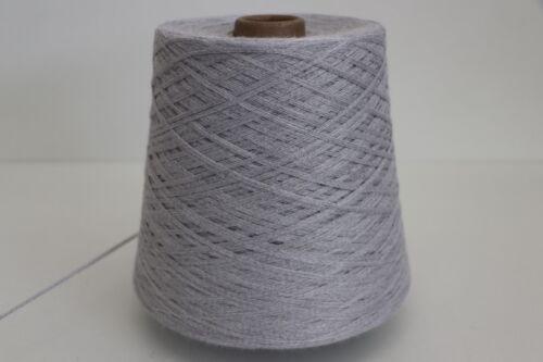 3,2 Wolle Strick Garn 600g SOFT BAUMWOLLE SILBER L32 21,65€//kg