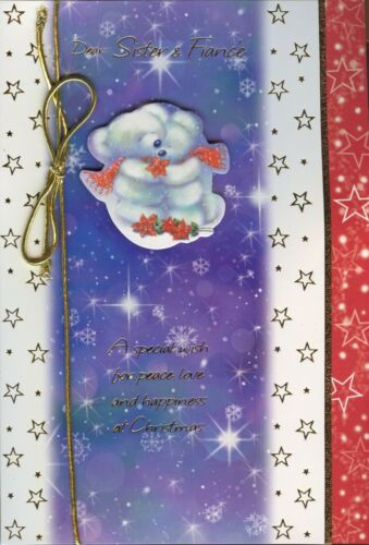 CUTE TO A SPECIAL SISTER AND FIANCE  CHRISTMAS CARD 1STP/&P