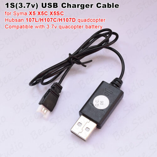 3.7v Battery USB Charger Cable for Syma// Hubsan H107L H107C RC Quadcopter Drone