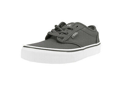 Vans Women Shoes Atwood Pewter White Canvas Charcoal | eBay