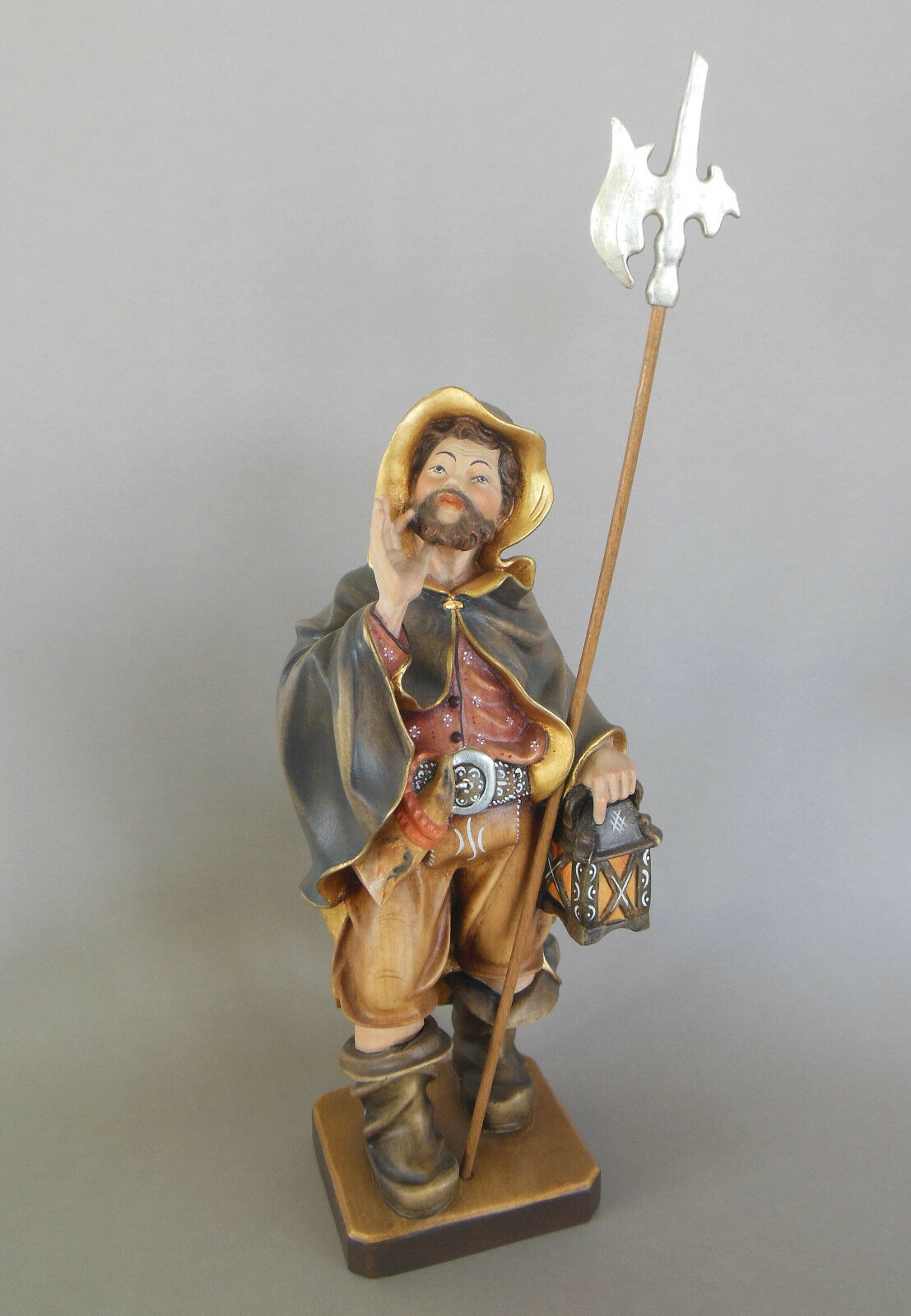 Nachtwächter ca. 30 cm hoch (Höhe Figur), Holz geschnitzt bemalt Wächter Nr. 1