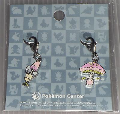 Japanese Pokemon Center Limited Metal Charm Morelull Shiinotic Set