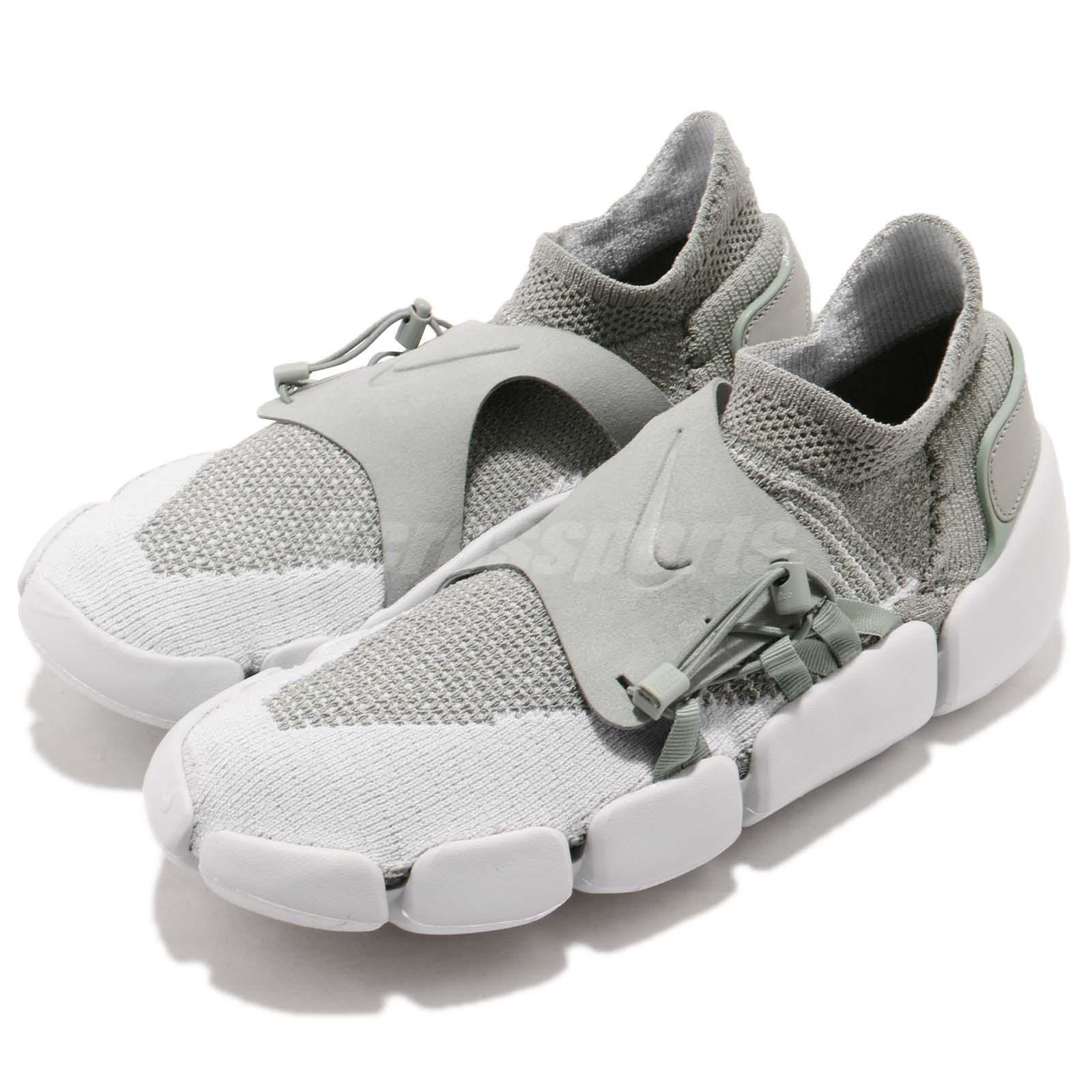 Nike Footscape Flyknit DM Grey Men Running Lifestyle Slip On shoes AO2611-002