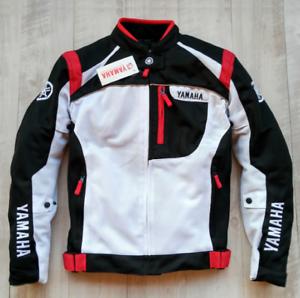 Men-039-s-Classic-Speed-Block-Jacket-Motorcycle-Sportbike-Bike-Black-FOR-Yamaha