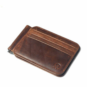 New Slim Wallet with Money Clip Finest Leather RFID Minimalist Bifold For Man