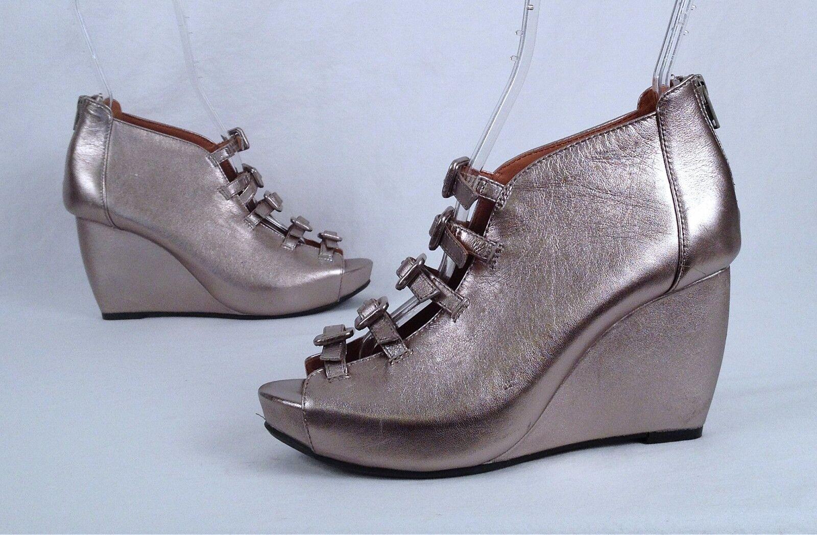 NEW   L'Amore Des Pieds Wedge Sandal- Metallilc  - Dimensione 7 M   245  (P0)