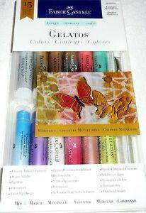 Faber-Castell GELATOS METALLICS 15 Pieces Mix & Match Creamy Vibrant Pigment