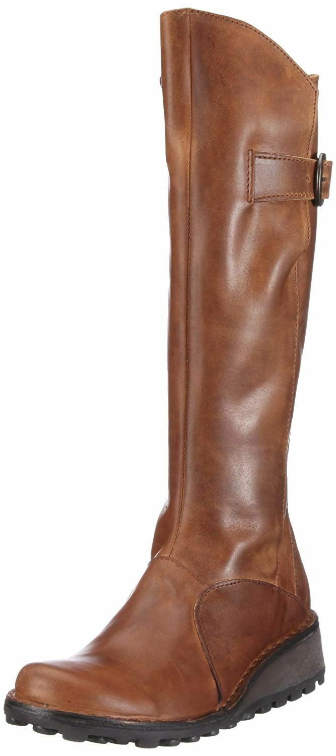 Fly london Mol 2 Camel Leather Womens Knee Hi Boots