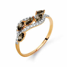 585 14K Russian Rose Gold Cluster Ring Size N-17 gift boxed