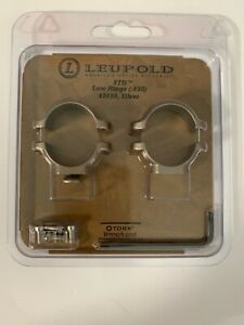 Leupold-STD-low-rings-650-49899-Silver-With-Torx-Wrench-And-Screws-New