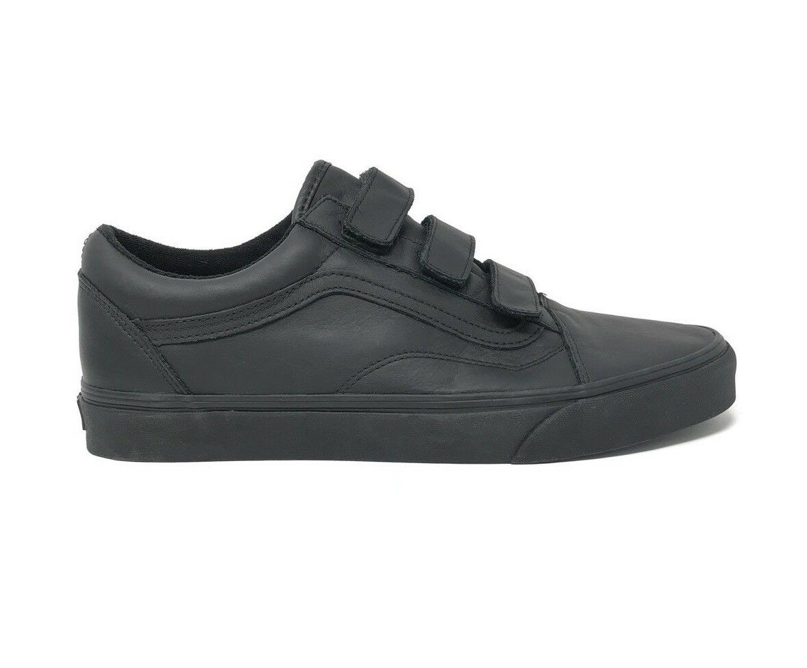 Vans Old Skool V Mono Leather Black Men's 11.5 Skate Shoes New Skateboard