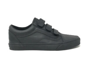 058cada415 Vans Old Skool V Mono Leather Black Men s 10.5 Skate Shoes New ...