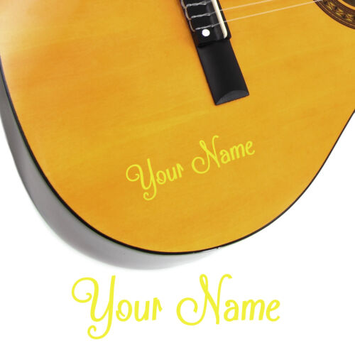 Shack Style Personalised Acoustic Electric 2 x Guitar Name Stickers