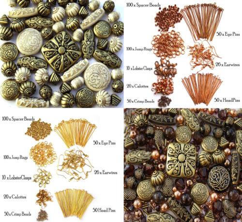 Jewellery Making Beads /& 770 Findings earwires jumprings spacer crimp