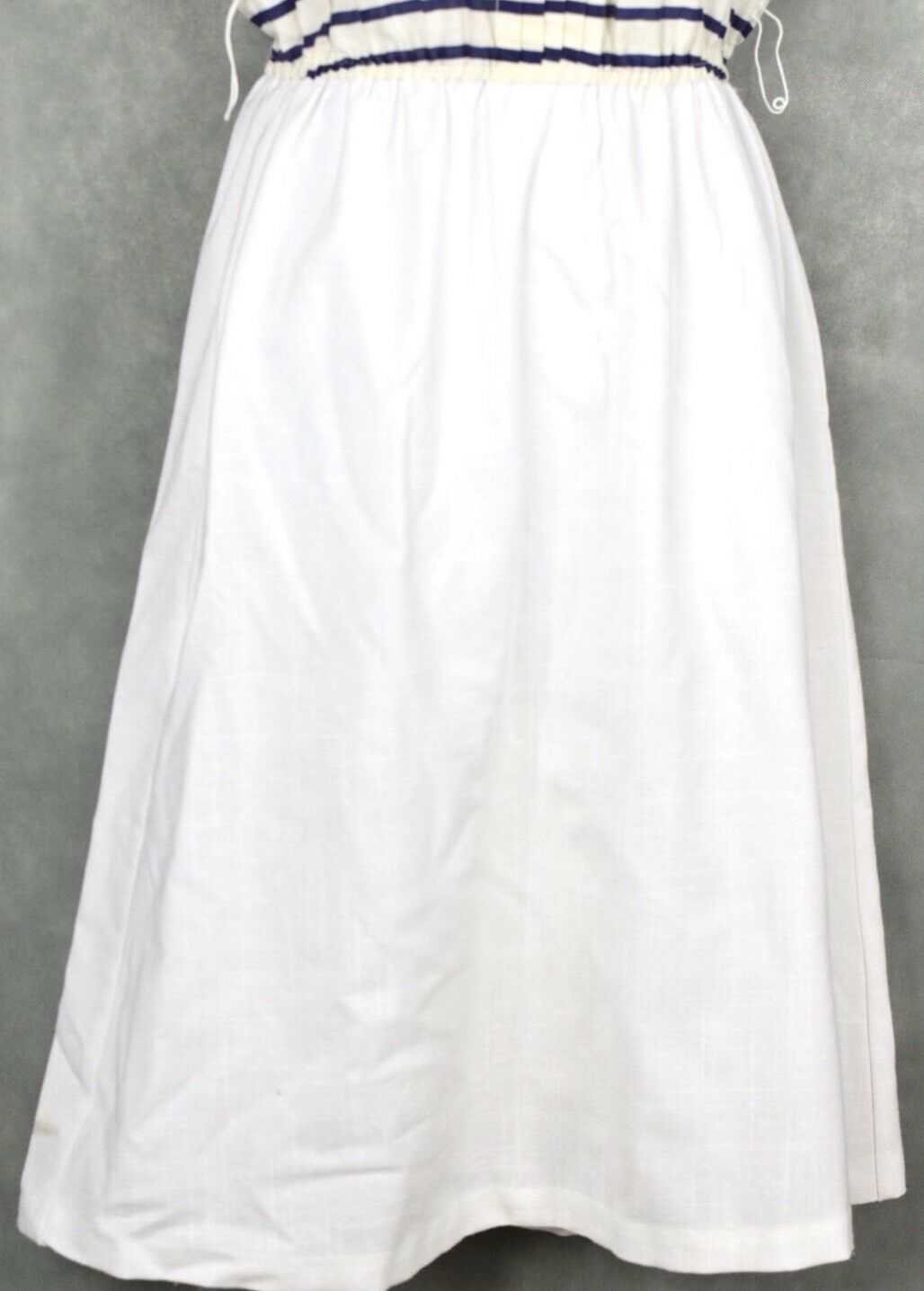 Vintage No Brand White And Blue Dress Lot Size 12 - image 4
