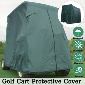 Golf-Buggy-Cart-Cover-2-Passenger-Waterproof-Dust-proof-UV-Protect