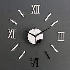 3D Luxury DIY Clock EVA Foam Materi Decoration Mirror Stickers Art Wall Clock
