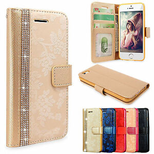 Luxury-Magnetic-Bling-Glitter-Leather-Flip-Case-Wallet-Cover-For-Various-Phone