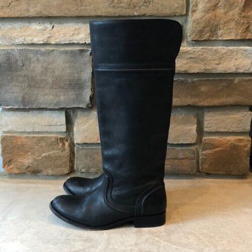 Frye Black Melissa Trapunto Riding Boots Size 6.5