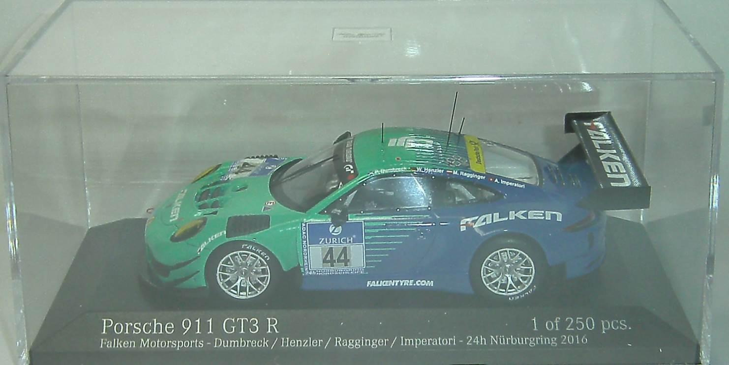 PORSCHE 911 GT3 R #44 #44 #44 Nürburgring 2016 MINICHAMPS 1:43 Ltd.Edition 250 pièces | Vente  9ebaf5