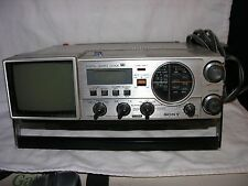 Vintage Sony Tv-413 radio FM/AM Receiver 1979-Quartz clock